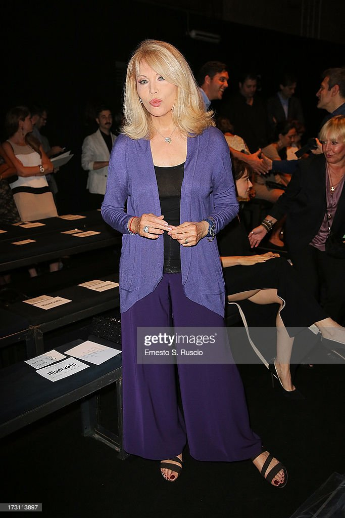 Amanda Lear attends the Jean Paul Gaultier Couture fashion show as part of AltaRoma AltaModa Fashion Week Autumn/Winter 2013 on July 7, 2013 in Rome, Italy.