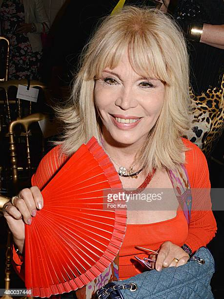Amanda Lear attends the JeanPaul Gaultier show as part of Paris Fashion Week Haute Couture Fall/Winter 2015/2016 at 325 rue Saint Martin on July 8...