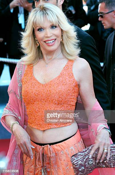 Amanda Lear during 2004 Cannes Film Festival 'Bad Santa' and 'Motorcycle Diaries' Premiere at Palais Du Festival in Cannes France