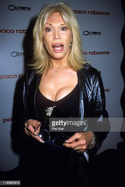 Amanda Lear during Paco Rabanne Black XS Perfume Launching Party at Olympia Theater in Paris France
