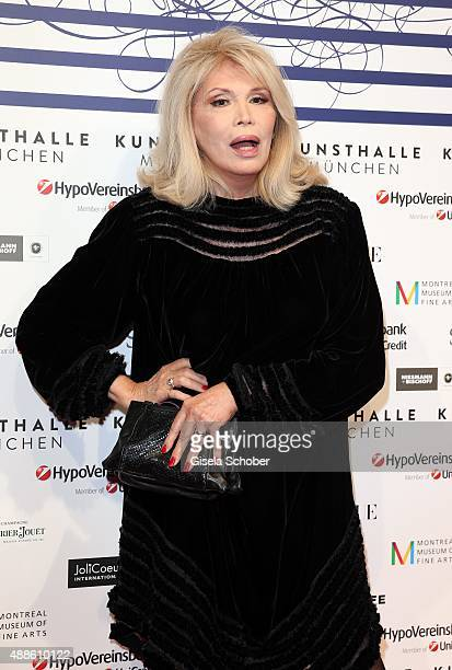 Amanda Lear during the opening of the exhibition Jean Paul Gaultier 'From The Sidewalk To The Catwalk' at Kunsthalle on September 16 2015 in Munich...