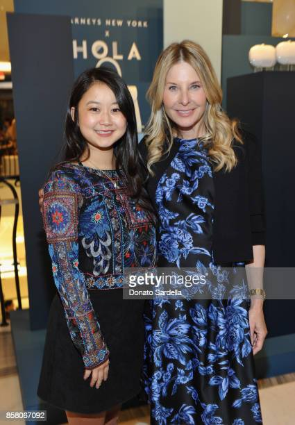 Amanda Lee and HOLA Chair Committee Lynn Rosenthal attend a Cocktail Event in support of HOLA Heart of Los Angeles hosted by Barneys New York at...