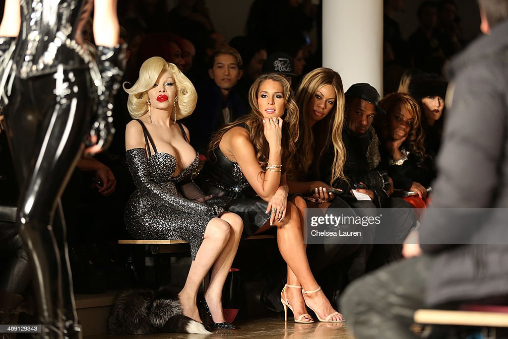 <a gi-track='captionPersonalityLinkClicked' href=/galleries/search?phrase=Amanda+Lepore&family=editorial&specificpeople=213255 ng-click='$event.stopPropagation()'>Amanda Lepore</a> (L) and <a gi-track='captionPersonalityLinkClicked' href=/galleries/search?phrase=Carmen+Carrera&family=editorial&specificpeople=7433374 ng-click='$event.stopPropagation()'>Carmen Carrera</a> attend the The Blonds fashion show during MADE Fashion Week Fall 2014 at Milk Studios on February 12, 2014 in New York City.