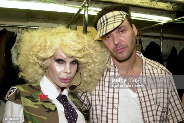 Amanda Lepore and David LaChapelle during Amanda Lepore Single Release Party at Plaid at Plaid in New York City New York United States