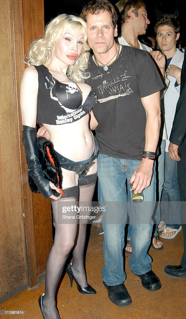 Amanda Lepore and John Norris during Harry* and Amanda Lepore Host Charm School University June 20 2005 at Marquee in New York City New York United...
