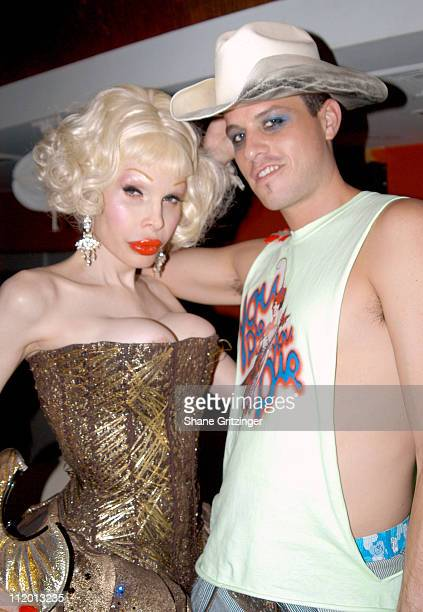 Amanda Lepore and Traver Rains of 'Heatherette' during 'Heatherette' Hits the Hamptons at Resort in East Hampton New York United States