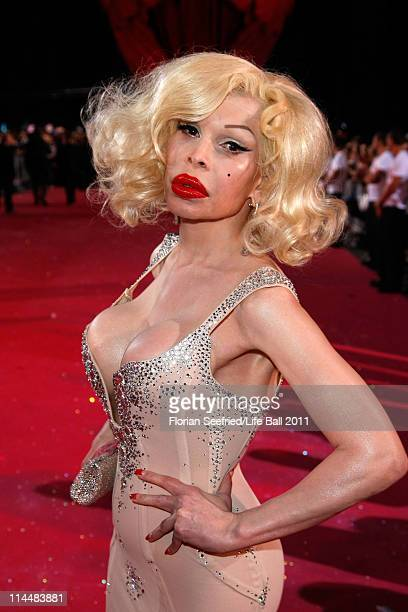 Amanda Lepore attends the 19th Life Ball at the Town Hall on May 21 2011 in Vienna Austria