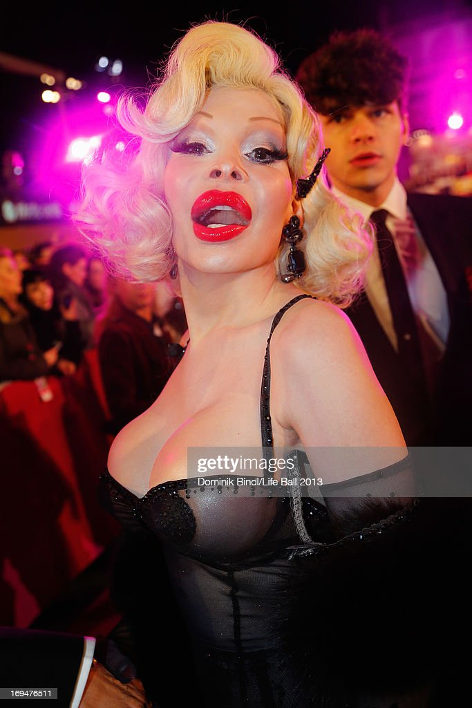 <a gi-track='captionPersonalityLinkClicked' href=/galleries/search?phrase=Amanda+Lepore&family=editorial&specificpeople=213255 ng-click='$event.stopPropagation()'>Amanda Lepore</a> attends the 'Life Ball 2013 - Magenta Carpet Arrivals' at City Hall on May 25, 2013 in Vienna, Austria.