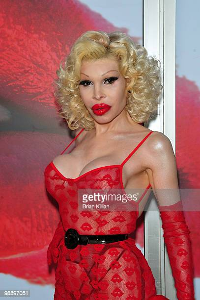 Amanda Lepore attends the preview of 'The Lipstick Portraits' exhibition at the 401 Projects on May 6 2010 in New York City