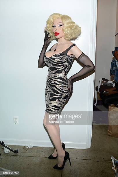 Amanda Lepore attends the Tumbler And Tipsy by Michael Kuluva Spring/Summer 2015 fashion show during New York Fashion Week on September 9 2014 in New...