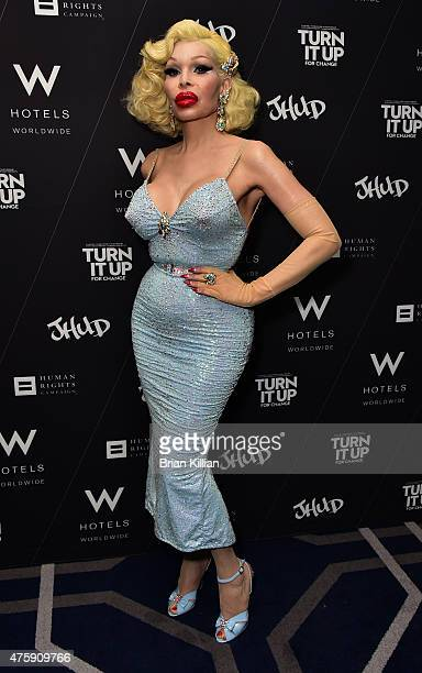 Amanda Lepore attends the 'Turn It Up For Change' New York Screening at W Union Square on June 4 2015 in New York City