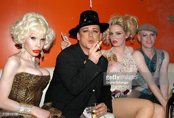 Amanda Lepore Boy George Harry* and Richie Rich of 'Heatherette'