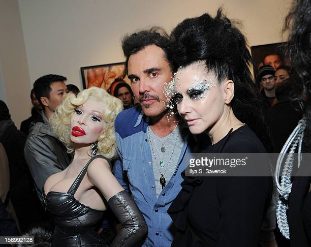 Amanda Lepore David LaChapelle and Susanne Bartsch attend David LaChapelle's Opening Of 'Still Life' at Paul Kasmin Gallery on November 26 2012 in...