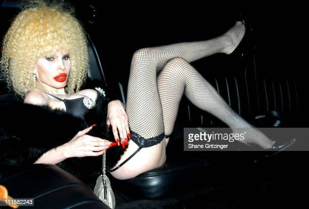 Amanda Lepore during Amanda Lepore and Model Boys Private Limousine Party at 16th Street in New York City New York United States