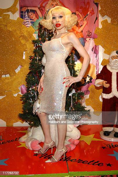 Amanda Lepore during Heatherette Launches 2005 Holiday Collection at ...
