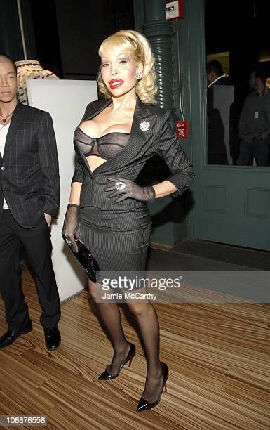 Amanda Lepore during Prada Celebrates The Opening of The 'Waist Down Skirts by Miuccia Prada' Exhibition Arrivals at Prada Soho Epicenter Store in...