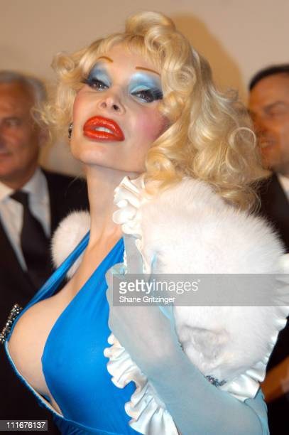 Amanda LePore during Santos Night The 100 Year Anniversary of The Cartier Santos Watch 1904 2004 at The Armory in New York City New York United States