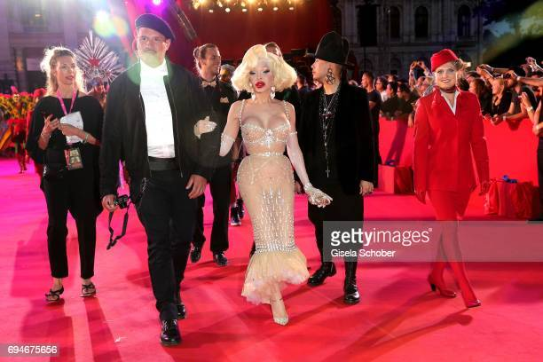 Amanda Lepore during the Life Ball 2017 at City Hall on June 10 2017 in Vienna Austria