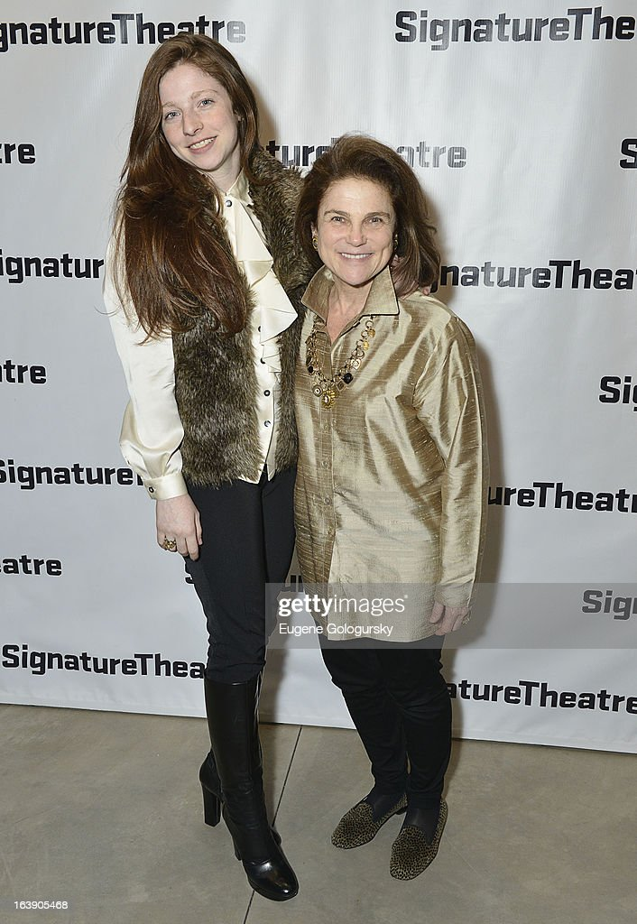 Amanda Levy and Tovah Feldsuh attend 'The Mound Builders' Opening Night Party at Signature Theatre Company's The Pershing Square Signature Center on March 17, 2013 in New York City.