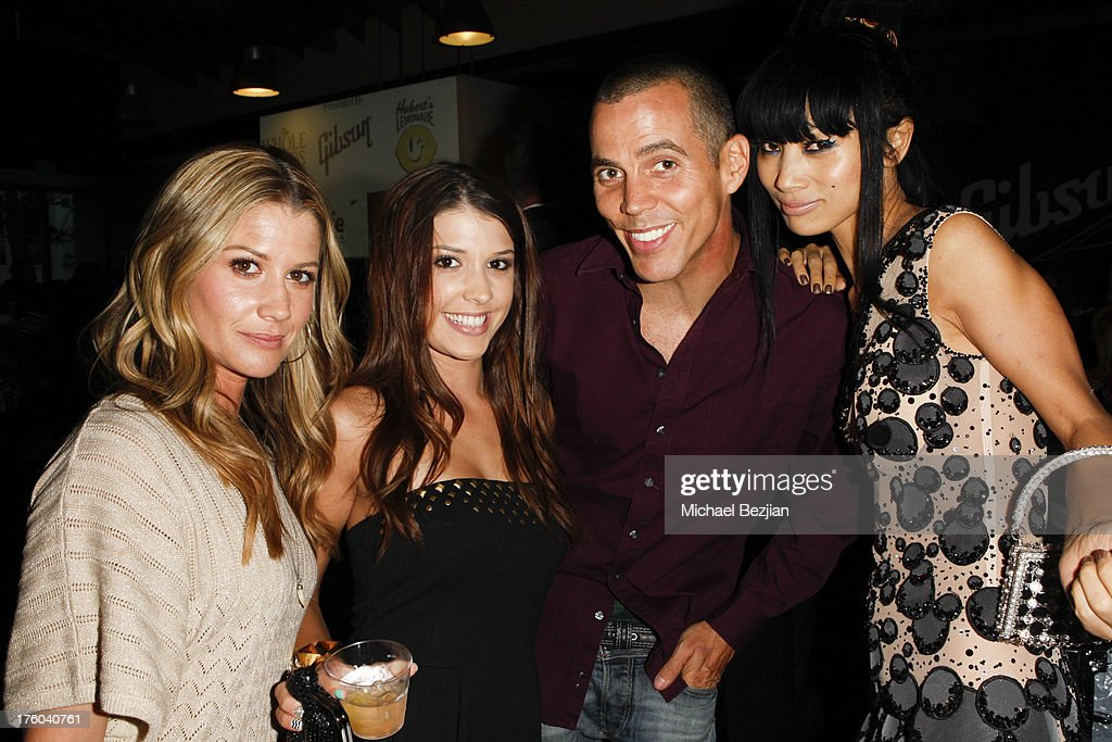 Amanda Lockwood, Amy Turner, Steve-O and Bai Ling attend Showcase Benefiting The Carrie Ann Inaba Animal Project at Gibson Guitar Entertainment Relations Showroom on August 10, 2013 in Beverly Hills, California.