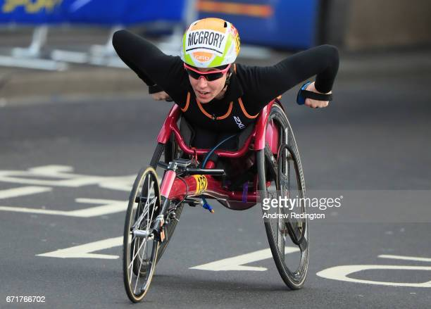 Amanda McCrory of the United States competes during the Virgin Money London Marathon on April 23 2017 in London England
