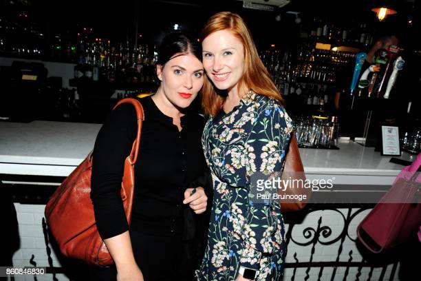 Amanda McVee and Maggie Coughlin attend Espolòn Tequila Hosts Celebration in Partnership with Ai Weiwei Exodus Exhibit at Hotel Chantelle on October...