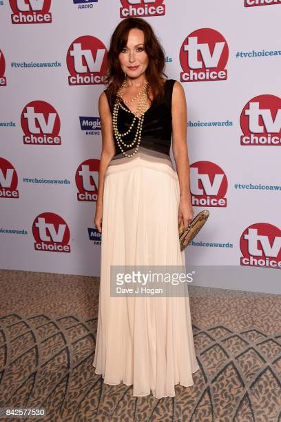 Amanda Mealing arrives at the TV Choice Awards at The Dorchester on September 4 2017 in London England