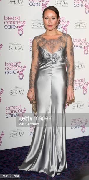Amanda Mealing attends Breast Cancer Care's Fashion Show to kick off Breast Cancer Awareness Month at Grosvenor House on October 3 2012 in London...