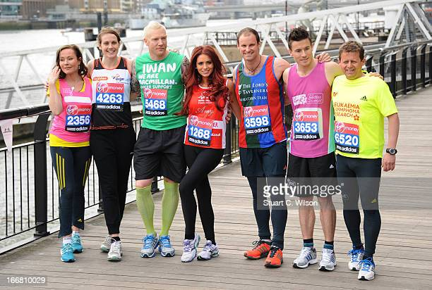Amanda Mealing Kelly Sotherton Iwan Thomas Amy Childs Andrew Strauss James Toseland and Mike Bushell attend a photocall ahead of taking part in the...