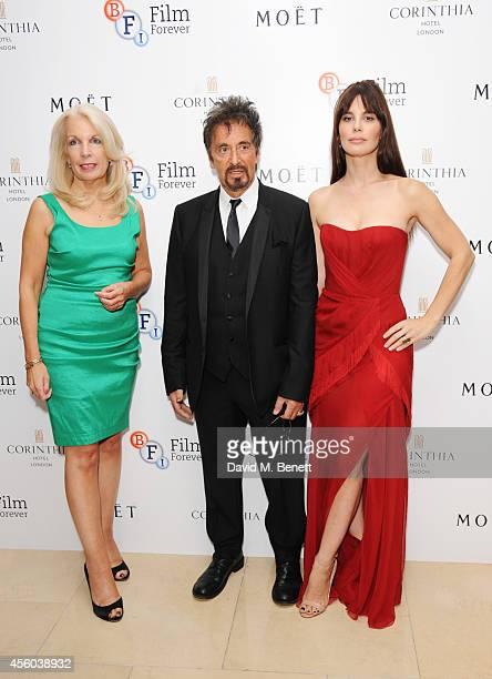 Amanda Nevill Al Pacino and Lucila Sola arrive at the Al Pacino BFI Fellowship Dinner supported by Moet Chandon at the Corinthia Hotel London on...