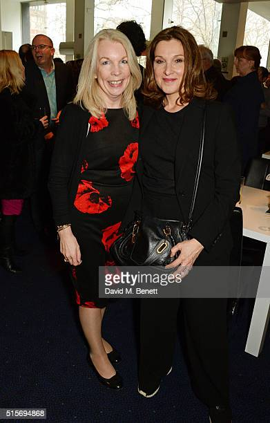 Amanda Nevill and Barbara Broccoli attend the 2016 Into Film Awards at Odeon Leicester Square on March 15 2016 in London England