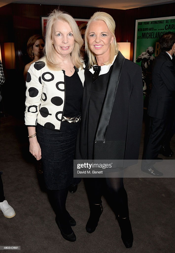 Amanda Nevill and director Amanda Eliasch attend a private screening of 'The Gun The Cake and The Butterfly' hosted by director Amanda Eliasch at the...