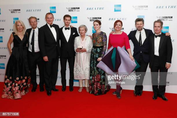 BFI CEO Amanda Nevill pProducer Jonathan Cavendish actors Hugh Bonneville Andrew Garfield Diana Cavendish actress Claire Foy BFI Head of Festivals...