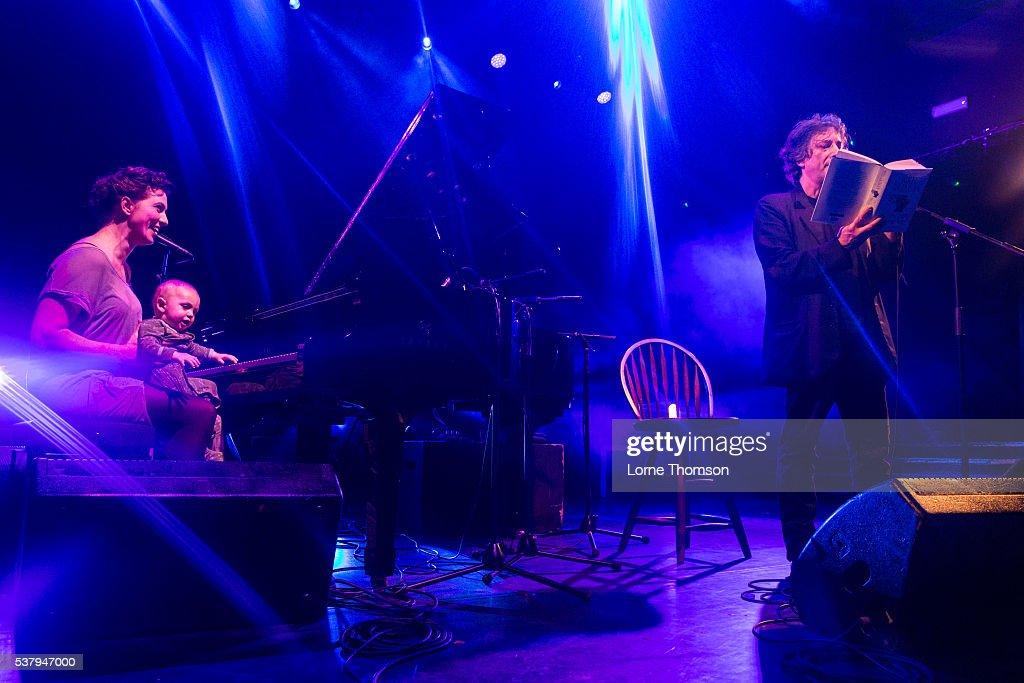 Amanda Palmer Anthony Gaiman and Neil Gaiman perform at KOKO on June 3 2016 in London England