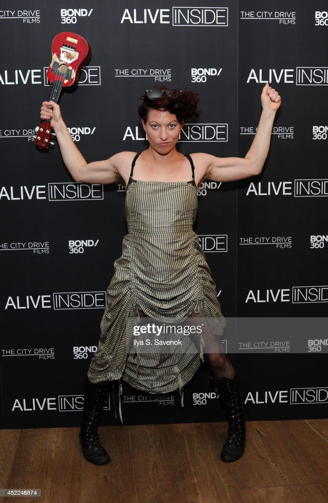 Amanda Palmer attends the 'Alive Inside' premiere at Crosby Street Hotel on July 16, 2014 in New York City.