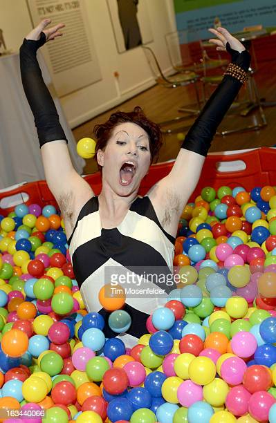Amanda Palmer poses at the Warner Brothers TV 2013 SXSW party on March 9 2013 in Austin Texas