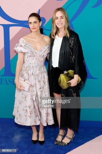 Amanda Peet and Brett Heyman attend the 2017 CFDA Fashion Awards at Hammerstein Ballroom on June 5 2017 in New York City