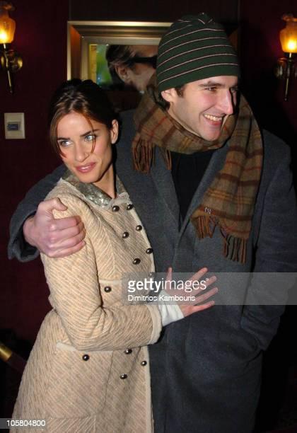 Amanda Peet and David Benioff during 'Something's Gotta Give' New York Premiere Inside Arrivals at Ziegfeld Theater in New York City New York United...