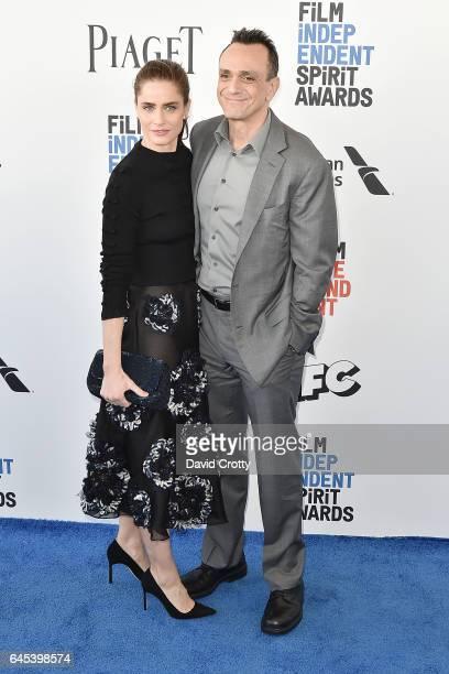 Amanda Peet and Hank Azaria attend the 2017 Film Independent Spirit Awards Arrivals on February 25 2017 in Santa Monica California