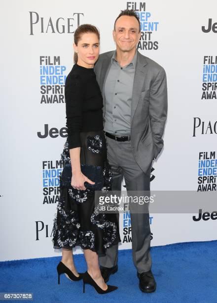 Amanda Peet and Hank Azaria attends the 2017 Film Independent Spirit Awards on February 25 2017 in Santa Monica California