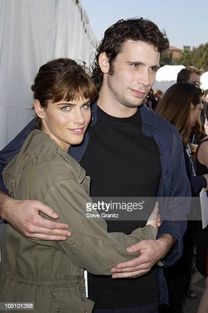 Amanda Peet and Jeremy Sisto during The 18th Annual IFP Independent Spirit Awards Backstage at Santa Monica Beach in Santa Monica California United...