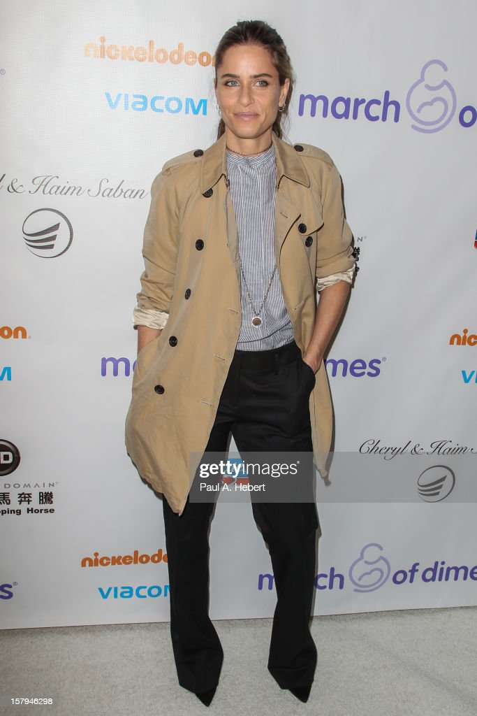 Amanda Peet arrives at the March Of Dimes' Celebration Of Babies held at the Beverly Hills Hotel on December 7, 2012 in Beverly Hills, California.