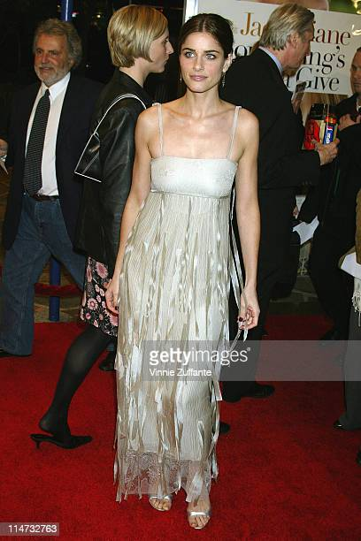 Amanda Peet attending the 'Something's Gotta Give' Premiere at the Mann Village Theatre in Westwood Ca 12/08/03