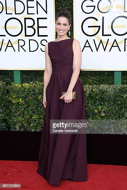 Amanda Peet attends the 74th Annual Golden Globe Awards at The Beverly Hilton Hotel on January 8 2017 in Beverly Hills California