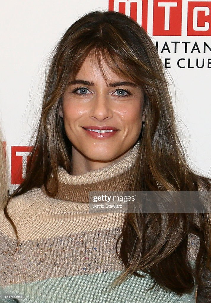 <a gi-track='captionPersonalityLinkClicked' href=/galleries/search?phrase=Amanda+Peet&family=editorial&specificpeople=201910 ng-click='$event.stopPropagation()'>Amanda Peet</a> attends 'The Commons Of Pensacola' Off Broadway cast photo call at Manhattan Theatre Club Rehearsal Studios on September 25, 2013 in New York City.