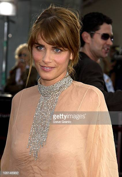 Amanda Peet during 'Seabiscuit' Premiere at Mann Village Theatre in Westwood California United States