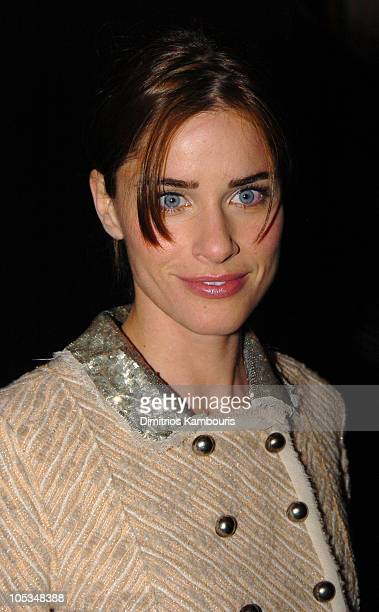 Amanda Peet during 'Something's Gotta Give' New York Premiere Inside Arrivals at Ziegfeld Theater in New York City New York United States