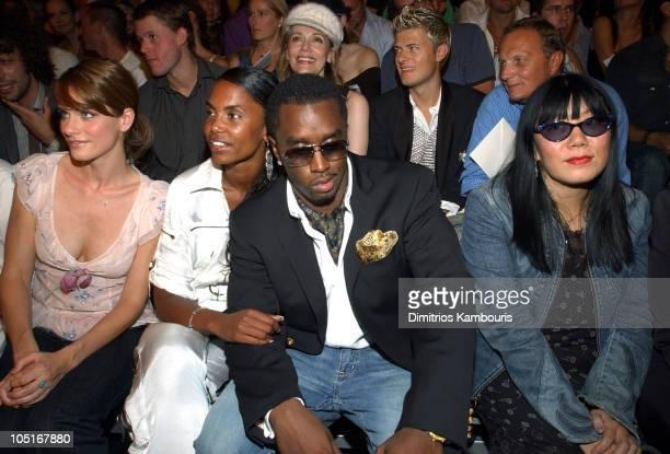 Amanda Peet Kim Porter Sean 'P Diddy' Combs and Anna Sui