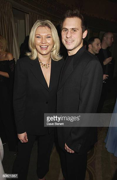 Amanda Redman and her partner attend the 2002 Empire Magazine Awards at The Dorchester Hotel on February 6 2002 in London