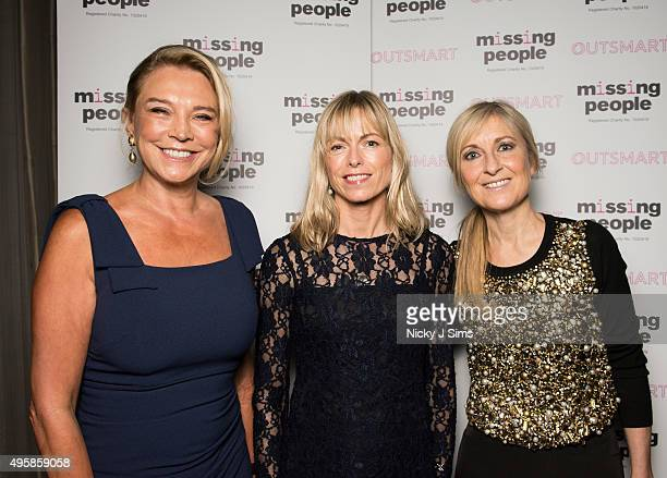 Amanda Redman Kate McCann and Fiona Phillips arrive for the 'Home for Christmas' fundraising dinner and auction in aid of Missing People at the...